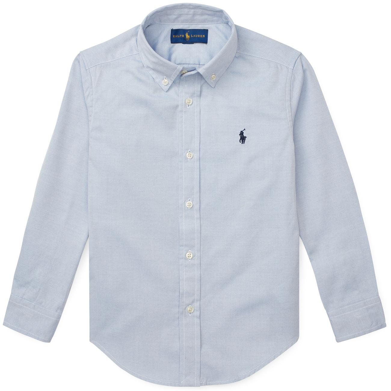 Polo Ralph Lauren Boy Long Sleeved Oxford Shirt BSR Blue