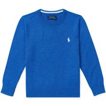 Polo Ralph Lauren Boy Sweater Knit Dockside Blue Heather