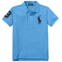 Polo Ralph Lauren Boy Short Sleeved Polo Harbor Island Blue