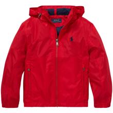Polo Ralph Lauren Boy Jacket Hooded Windbreaker Red