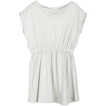 Serendipity Cloud/Offwhite Stripe Beach Dress