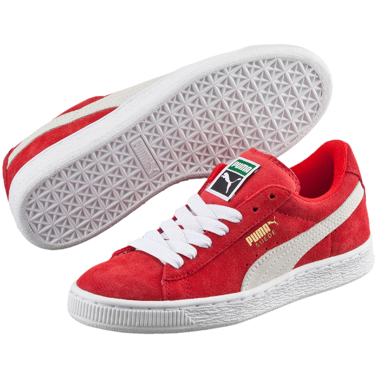 Puma Sneakers Suede Jr Red White