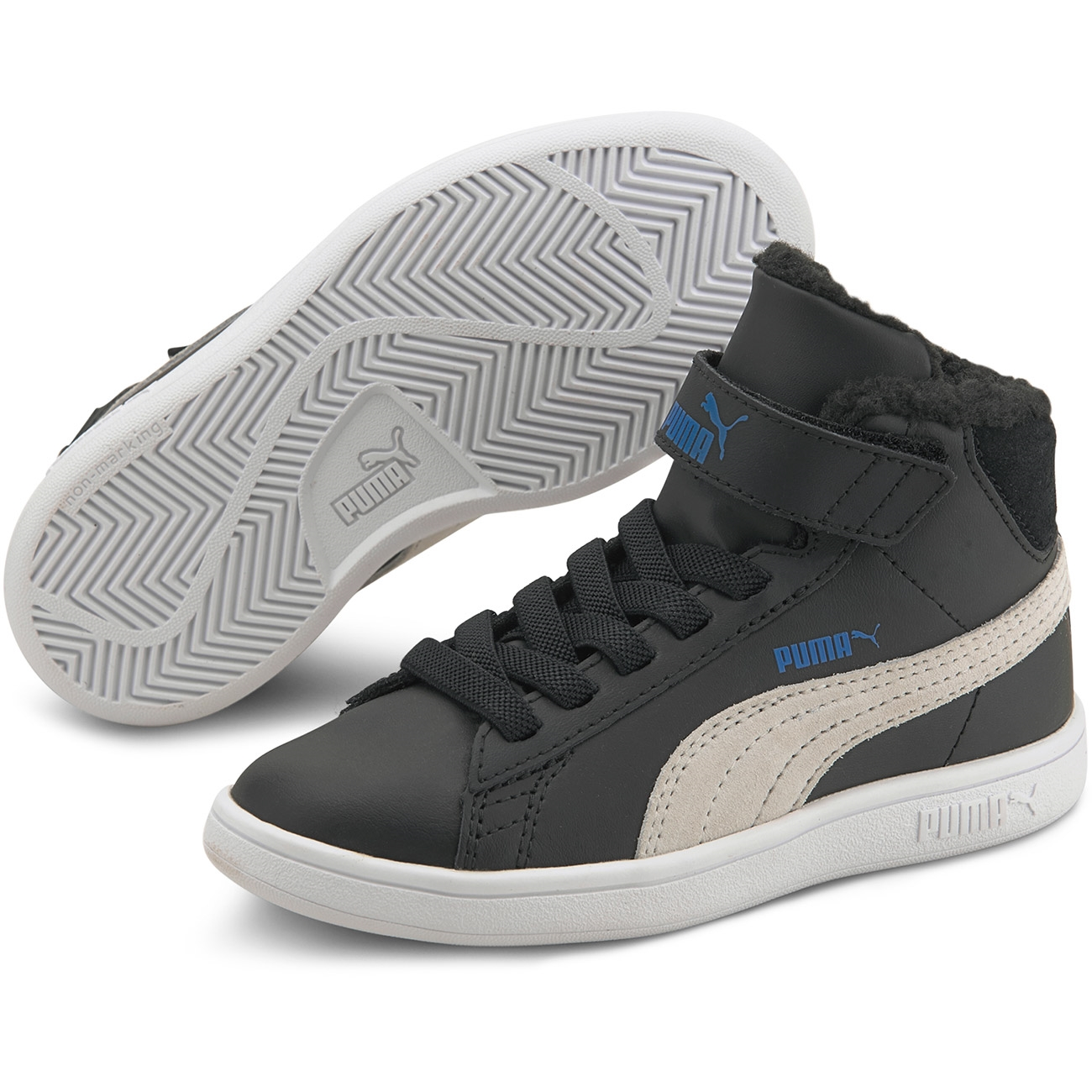 Puma Sneakers Smash v2 Mid Fur Black/White