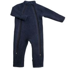 Joha Blue Wool Jumpsuit 2 in 1