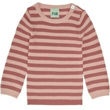 Fub Baby Rib Bluse Coral/Pale Pink