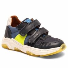 Bisgaard Velcro Shoes Ray Navy