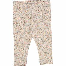 Wheat Dusty Dove Flowers Jersey Leggings
