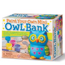 4M Bank Painting - Paint Your Own Mini Owl Bank