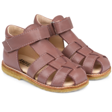 Angulus Sandal w. Closed Toe and Velcro Plum 5019-101-1524