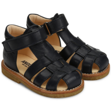 Angulus Sandal w. Closed Toe and Velcro Dark Blue 5019-101-1530