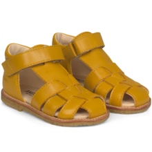 Angulus Sandal w. Closed Toe and Velcro Yellow 5019-101-1574
