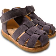 Angulus Sandal w. Closed Toe and Velcro Dark Purple 5019-101-2203