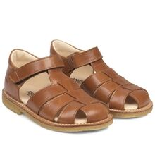 Angulus Sandal w. Closed Toe and Velcro Cognac 5026-101-1431