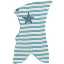 Racing Kids Balaclava Top Star 2-layer Blue Surf/Offwhite