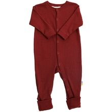 Joha Wool Rib Red Nightsuit 2in1
