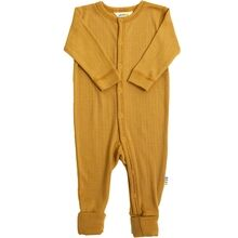 Joha Wool Rib Carry Yellow Nightsuit 2in1