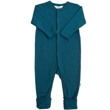 Joha Wool Rib Petrol Blue Nightsuit 2in1