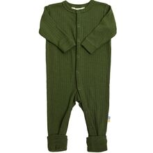 Joha Wool Rib Bottle Green Nightsuit 2in1