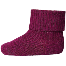 MP Viscose/Bamboo Lurex Rib Socks Pink