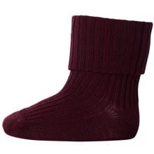 MP Wool Socks Rib 16 Burgundy