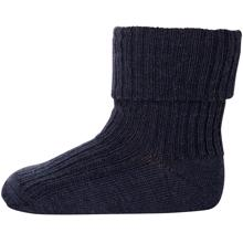MP Wool Socks Rib 498 Blue Melange