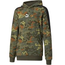 Puma Classics Graphics AOP Hoodie Forest Night