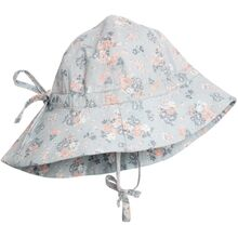 Wheat Pearl Blue Flowers Baby Girl Sun Cap