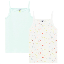 Petit Bateau 2 Chemises Light Green/Colorful Print