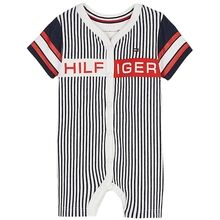 Tommy Hilfiger Baby Striped Shortall Twilight Navy