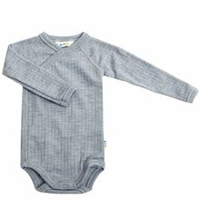 Joha Wrap Body Wool L/S Grey Melange