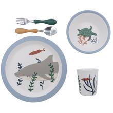 Sebra Seven Seas Dinner Set Melamin 5 Pieces