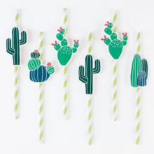My Little Day Cactus Straws 8 PCS