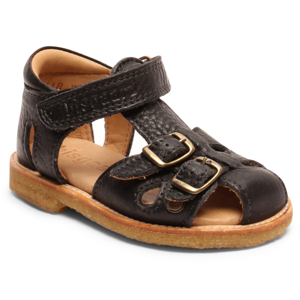 Bisgaard Sandal Natural Crepe Rubber Black