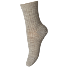 MP Wool Socks Rib Light Brown