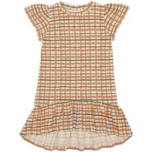Soft Gallery Winter Wheat AOP Check Fenella Dress