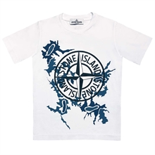 Stone Island Junior T-shirt Print White