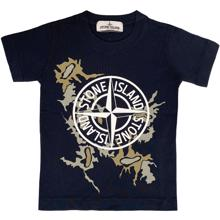 Stone Island Junior T-shirt Print Navy