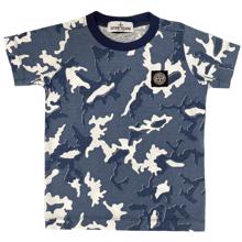 Stone Island Junior Camouflage Blue T-shirt