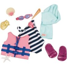 Our Generation Dollwear - Bathing Suit og Lifevest