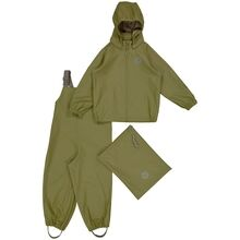 Wheat Weather Rain Jacket and Overall Charlie Heather Green