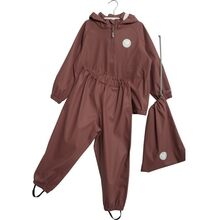 Wheat Charlie Rainwear Jacket and Pants Plum