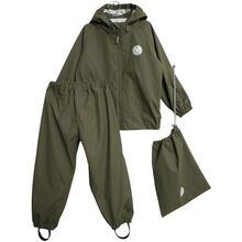 Wheat Charlie Rainwear Jacket and Pants Olive