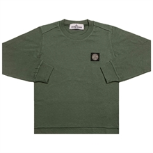 Stone Island Junior T-shirt LS Musk Green