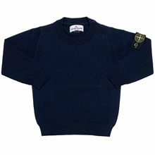 Stone Island Junior Knit Cotton Navy