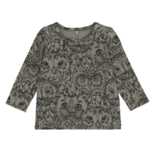 Soft Gallery AOP Owl Vetiver Bella Baby T-shirt