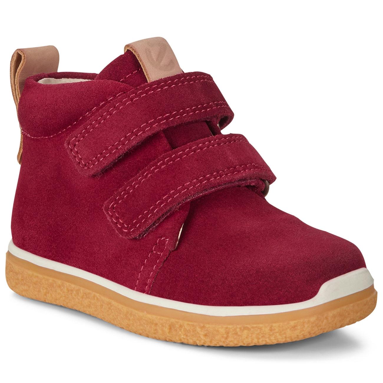 Ecco Cepretray Mini Suede Shoes Red Plum