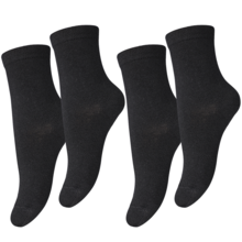 MP Viscose/Bamboo Plain Black 2-Pack