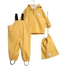 Wheat Weather Rain Jacket and Overall Corn Yellow