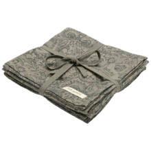 Soft Gallery AOP Owl Vetiver Muslin Cloth