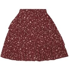 Soft Gallery Oxblood Red Flowery Fine Skirt